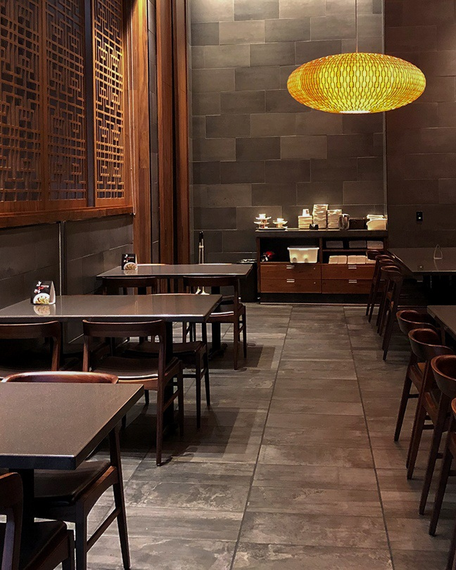 A shot of the interior of Din Tai Fung in Arcadia at the Westfield Santa Anita.