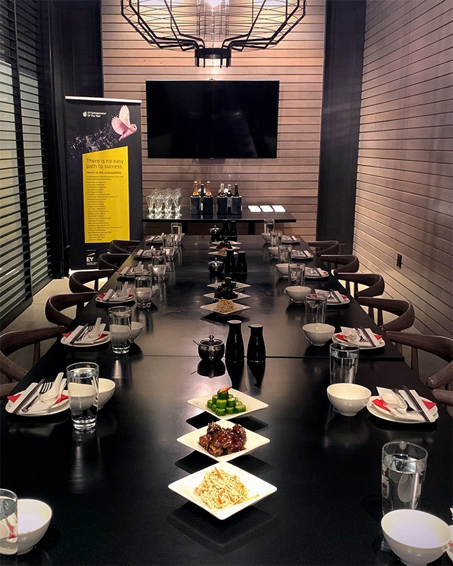 The private dining room at Din Tai Fung Portland.