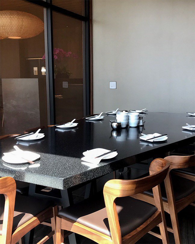 A photo of Din Tai Fung Century City's private dining room.