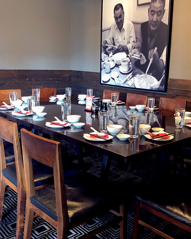 The private dining room at Din Tai Fung Seattle in University Village.