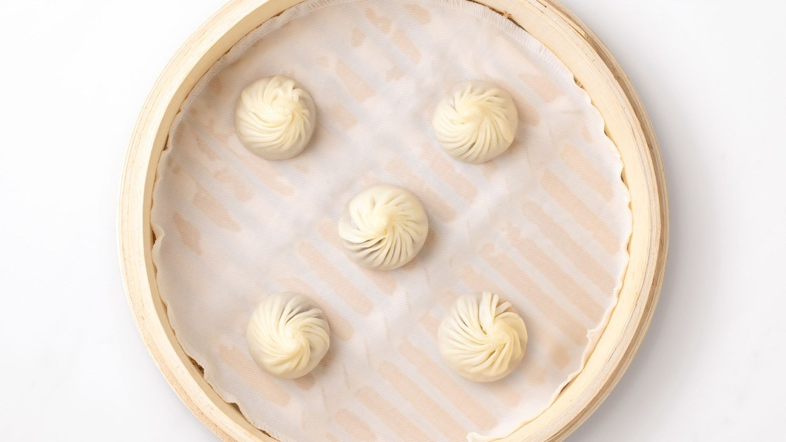 Chocolate & Mochi Xiao Long Bao, aerial view