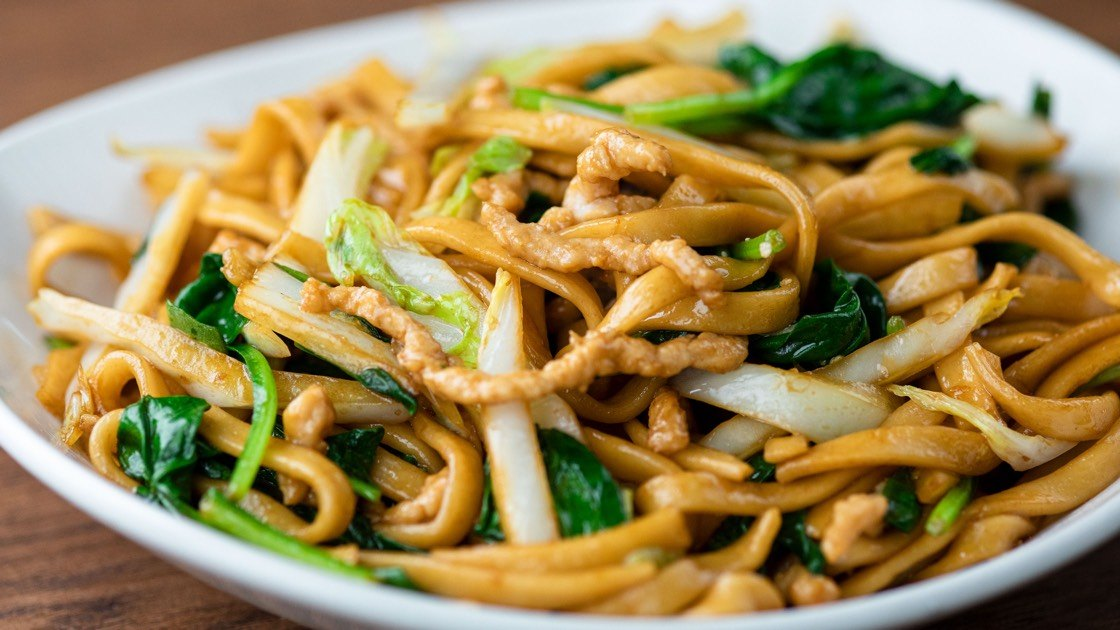 Jidori Chicken Fried Noodles, close up
