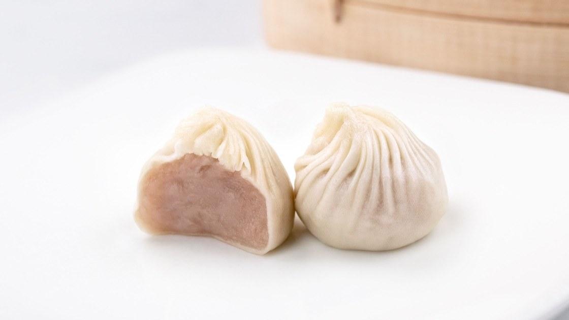 Sweet Taro Xiao Long Bao, close up
