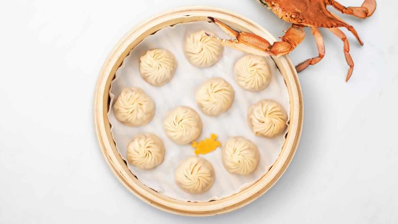 Steamer basket of Crab & Kurobuta Pork Xiao Long Bao