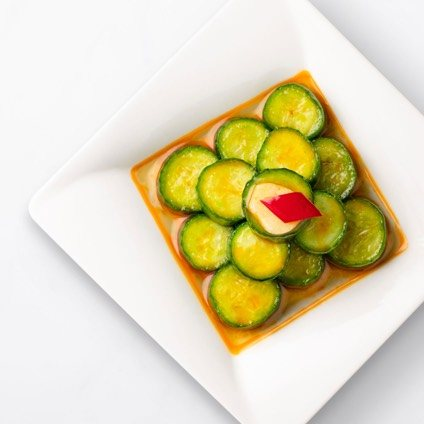 Plate, Cucumber Salad