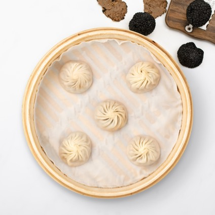 Steamer basket of Truffle & Kurobuta Pork Xiao Long Bao