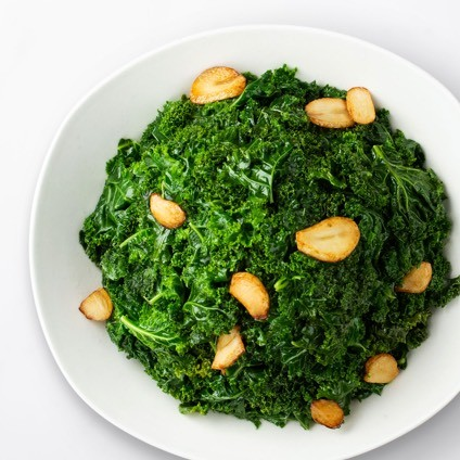 Plate, Sauteed Kale with Garlic