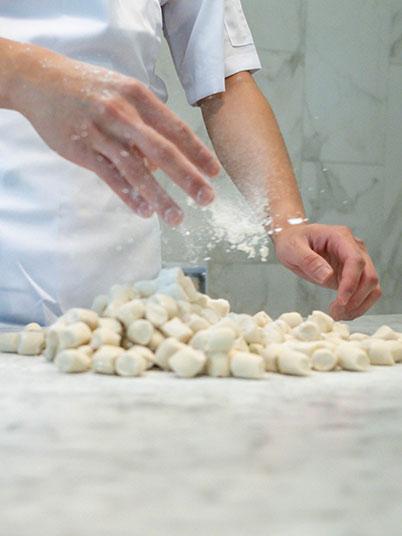 Chef making Xiao Long Bao dough