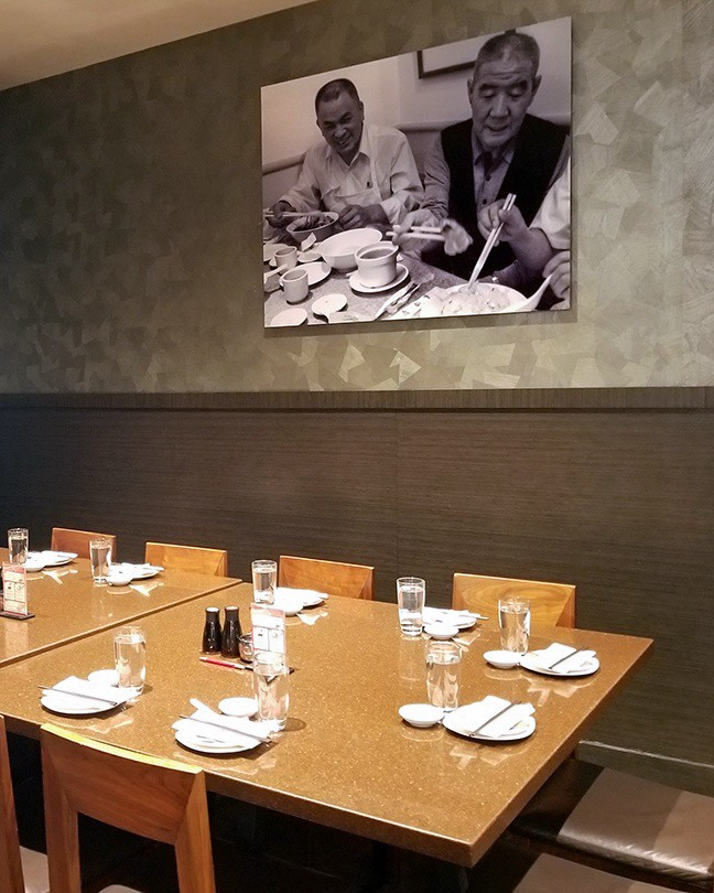 The private dining room at Din Tai Fung Bellevue.