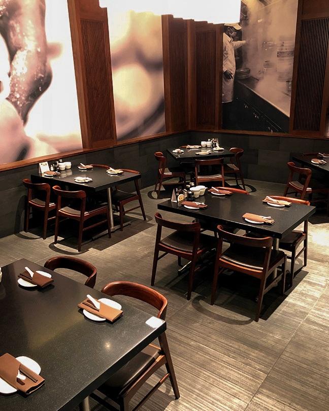 A shot of the private dining room at Din Tai Fung Santa Clara.