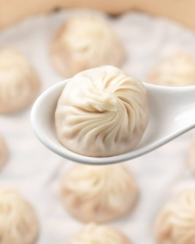Xiao Long Bao in spoon