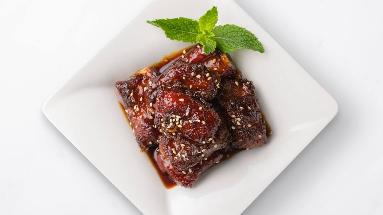 Plate, Sweet & Sour Pork Baby Back Ribs