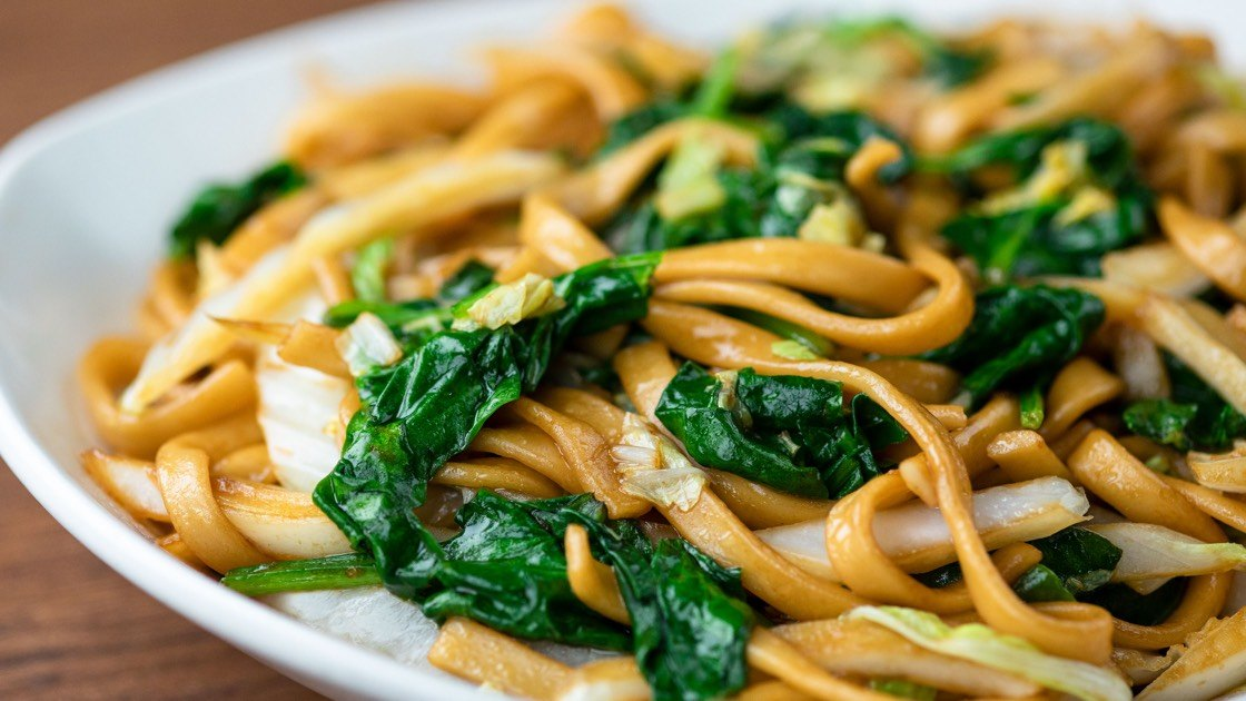 Vegetarian Fried Noodles, close up
