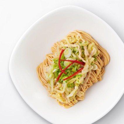 Sauced Noodles with Pickled Mustard Greens & Shredded Kurobuta Pork