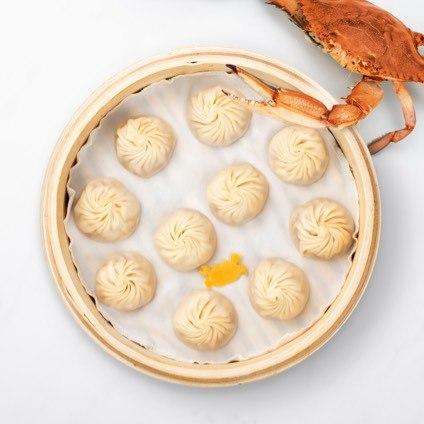 Steamer basket of Crab & Kurobuta Pork Xiao Long Bao